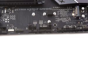 Das ASUS ROG Strix H370-F Gaming bietet einen zusätzlichen USB-3.1-Gen1-Header,...