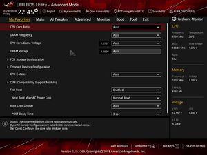 Die UEFI-Advanced-Ansicht beim ASUS ROG Strix H370/B360-F Gaming