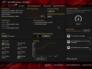 Die UEFI-EZ-Ansicht beim ASUS ROG Strix H370/B360-F Gaming