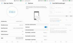 Die Komination aus Android 7.0 und EMUI 5.0 ist neu, Funktionen wie Knuckle Codes oder die übersichtliche Dual-SIM-Verwaltung hat man aber übernommen