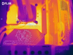 Wärmebild vom VRM-Bereich beim MSI MPG Z590 GAMING CARBON WIFI