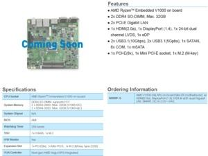 AMD Athlon 200GE und Ryzen Embedded V1000