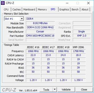 Corsair Vengeance RGB Pro DDR4-3600