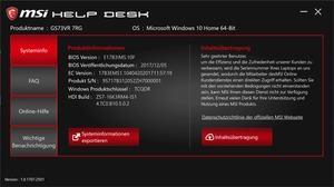 Die Software des MSI GS73VR 7RG Stealth Pro