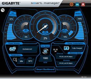 Die Software des Gigabyte Aero 15X v8
