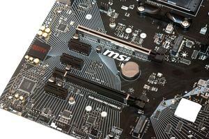Die Erweiterungssteckplätze beim MSI B450 Gaming Pro Carbon AC im Überblick.