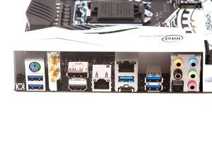Das I/O-Panel beim ASRock Z270 Taichi.
