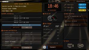 Der UEFI-EZ-Mode beim ASRock Z270 Taichi.