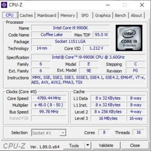 GPUz und CPUz des MSI GT76 Titan DT 9SG