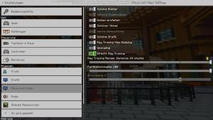 Minecraft RTX Grafik-Einstellungen