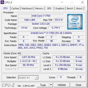 GPUz und CPUz des ZOTAC MEK1