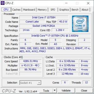 GPUz und CPUz des Acer Predator Helios 300 PH315