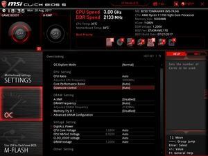 BIOS: MSI B350 Tomahawk