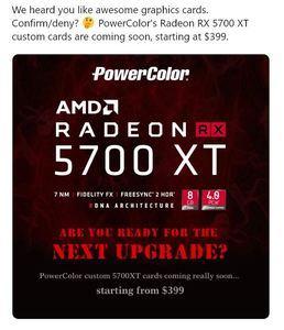 AMD Radeon 5700 XT PowerColor