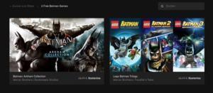 Batman im Epic Games Store