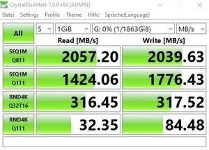 Die USB-3.2-Gen2x2-Performance über den ASMedia ASM3242.