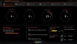 Die Software des Gigabyte Aero 17