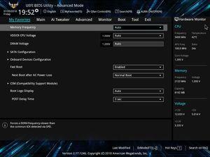 Die UEFI-Advanced-Oberfläche beim ASUS TUF B450M-Plus Gaming.
