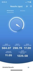 MLPerf Benchmark - iPhone 12