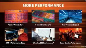 Neu sind vor allem die Fertigung in 12 nm sowie XFR 2 und Precision Boost 2