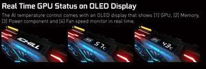 iChill-X3-Kühlung mit OLED