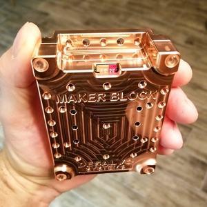 Desalvo Systems Solid Cooper Maker Block Case