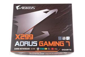 Die Verpackung vom Gigabyte X299 AORUS Gaming 7.