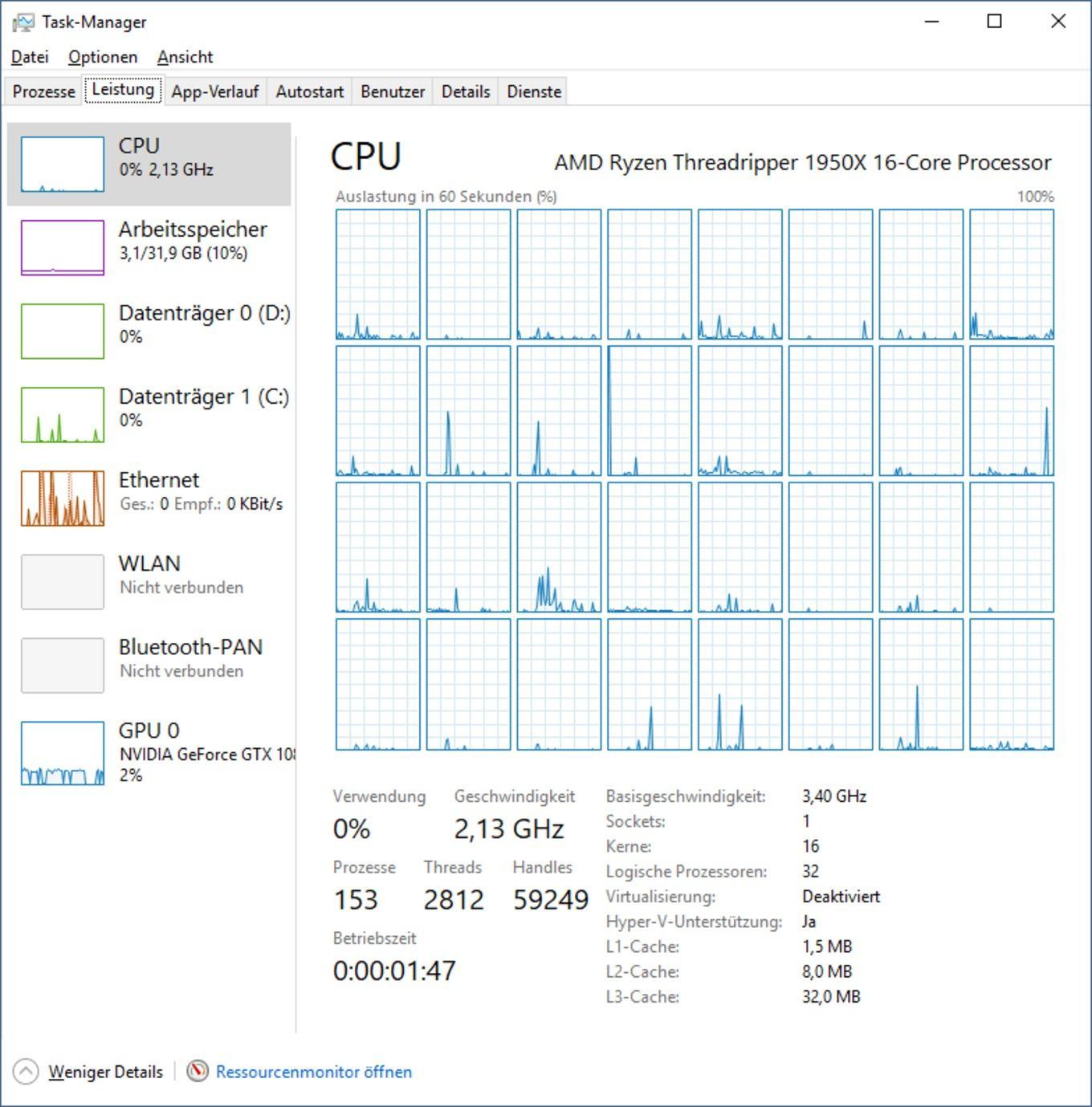 AMD Ryzen Threadripper im UMA/NUMA-Modus