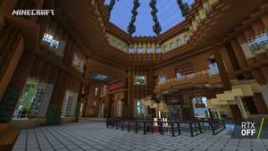 Minecraft RTX Imagination Island RTX Off