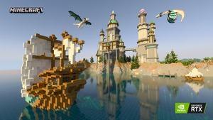 Minecraft RTX Crystal Palace RTX On