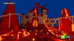 Minecraft RTX Imagination Island RTX On