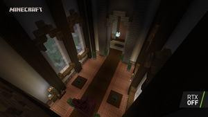 Minecraft RTX Crystal Palace RTX Off