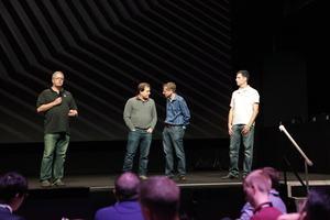 Tom Peterson (ganz links) auf dem Turing-Event von NVIDIA