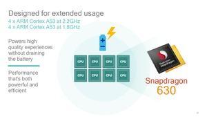 Der Qualcomm Snapdragon 630 muss mit acht Cortex-A53-Kernen auskommen, erreicht aber den gleichen Maximaltakt wie der Snapdragon 660