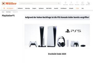 PlayStaion 5 im Internet ausverkauft