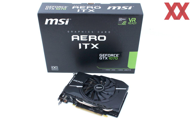 MSI GeForce GTX 1070 Aero ITX OC im Test: Klein aber fein
