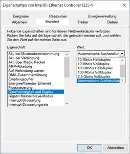 Eigene Messungen zum Intel I225-V