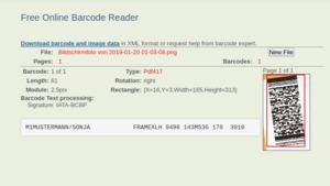 Ergebnis Scan Lufthansa-Ticket-Muster