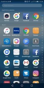 An Android 8 erinnern zunächst lediglich die farbigen Punkte an den Icons, die auf Benachrichtigungen hinweisen
