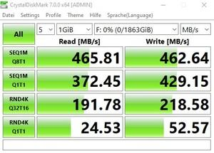 Die USB-3.2-Gen1-Performance (5 GBit/s) beim MSI MEG Z490 UNIFY über den Z490-Chipsatz.