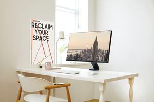 """Minimalistischer Monitor """"The Space"""" für moderne Arbeitsplatzumgebungen"""