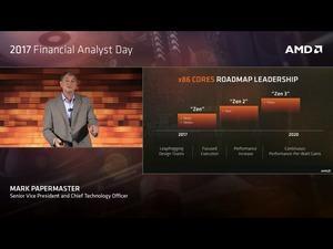 Neue CPU- und GPU-Roadmaps von AMD auf dem 2017 Financial Analyst Day.
