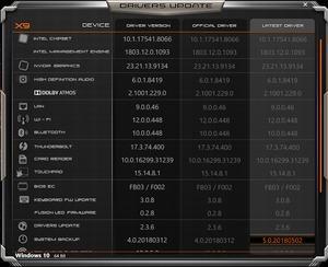 Die Software des AORUS X9 DT