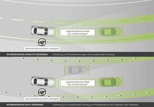 Bis Tempo 130 benötigt der aktive Spurhalteassistent keine Fahrbahnmarkierung (©: Mercedes-Benz)