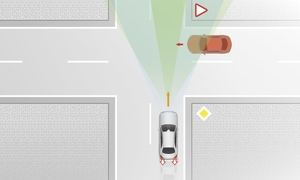 Die Sensoren beobachten auch den Querverkehr (©: Mercedes-Benz)