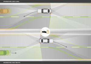 Auf Wunsch wechselt die neue E-Klasse die Spur automatisch (©: Mercedes-Benz)