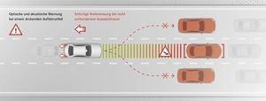 Der aktive Bremsassistent erkennt Stausituationen und reagiert gegebenebfalls mit einer Vollbremsung (©: Mercedes-Benz)