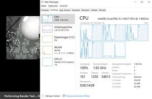 Intel Core i5-L16G7 im Cinebench-Test (Quelle: Notebookcheck)