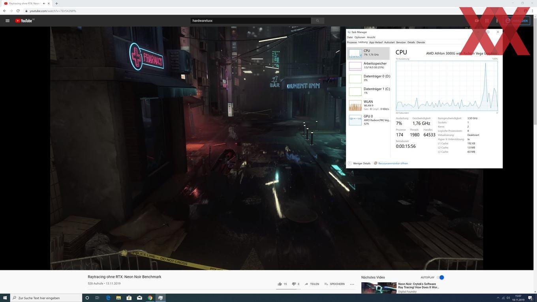 AMD Athlon 3000G - Youtube-Streaming