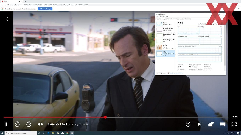 AMD Athlon 3000G - Netflix-Streaming